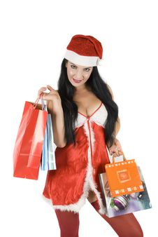 Free Sensual Santa Woman Stock Images - 6899024