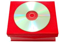 Free Compact-disk (CD Or DVD) And Red Cardboard Box. Stock Photos - 6899163