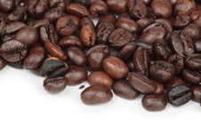 Free Coffee Bean Textures On WhiteMacro Of Coffee Beans Stock Photos - 6899473