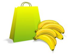 Free Bananas And Bag Royalty Free Stock Photos - 6899508