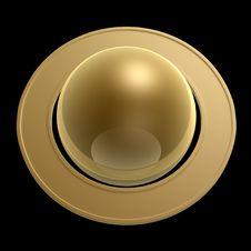 Free Gold Saturn Royalty Free Stock Photo - 6899615