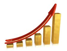 Free Golden Chart With Red Pointer Stock Photos - 6899733