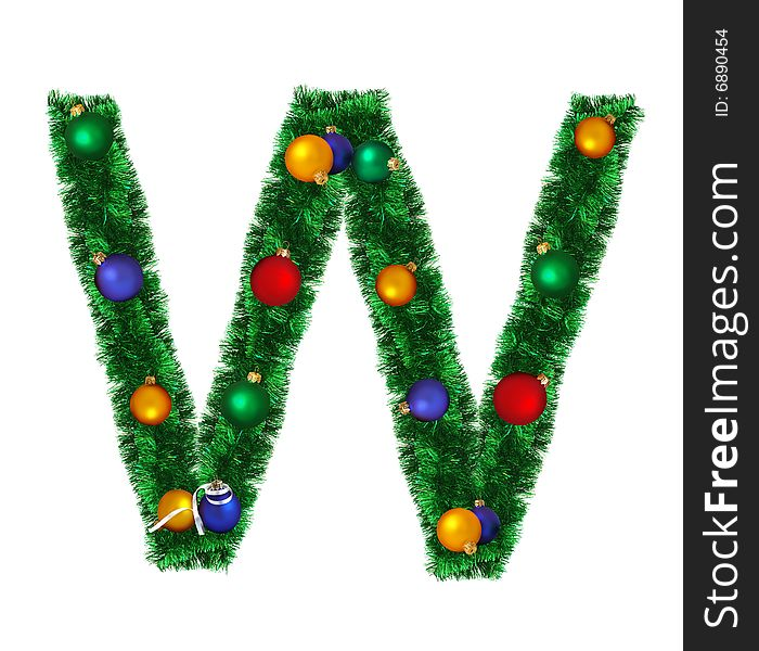 Christmas Alphabet.Christmas Alphabet W Free Stock Images Photos 6890454