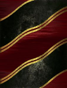Free Black And Red  Shabby Background With Gold Stripes. Template For Design. Copy Space For Ad Brochure Or Announcement Invitation, Ab Royalty Free Stock Photography - 68981627