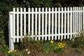 Free White Picket Fence Stock Photo - 698490