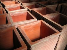 Free Square Clay Pots Royalty Free Stock Photo - 691985