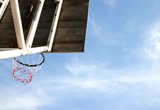 Free Basketball Ring And Backboard Royalty Free Stock Photos - 692098