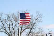 Free American Flag On Pole Royalty Free Stock Photography - 693167