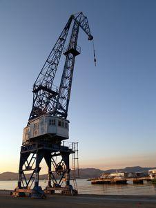 Free Sunset Cranes Iv Royalty Free Stock Photo - 693235
