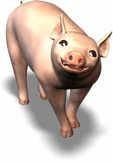 Free Happy Pig Royalty Free Stock Photography - 693607