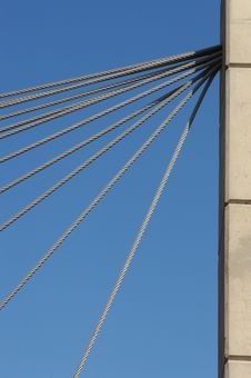 Free Bridge Cable Detail Royalty Free Stock Images - 693789
