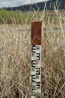 Free Water Level Metering Gauge Stock Image - 693891