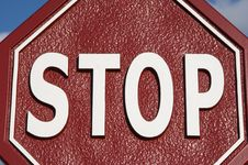 Free Stop Sign Royalty Free Stock Photos - 694198