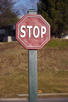 Free Stop Sign Royalty Free Stock Photography - 694387