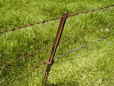 Free Barbwire Fence Stock Images - 695174