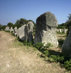 Free Standing Stones Alignments In Brittany Royalty Free Stock Images - 695829