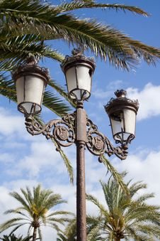 Cast Iron Lamp Post Royalty Free Stock Photography
