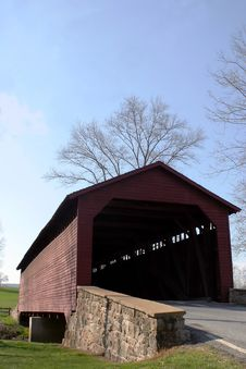 Free Utica Mills Covered Bridge Stock Image - 697081
