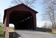 Free Ustica Mills Covered Bridge Stock Photography - 697092
