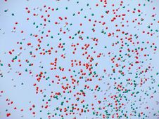 Free Lot Of Balloons Flying In The Sky Stock Photography - 697202
