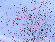 Free Many Balloons Flying In The Sky Stock Image - 697211
