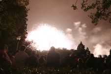 Free People Watching A Firework Royalty Free Stock Photo - 697665