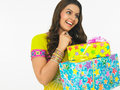 Free Asian Lady With Gift Boxes Royalty Free Stock Photos - 6903738