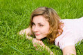 Free Woman Rest On The Grass Stock Photos - 6909513