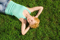 Free Woman Rest On The Grass Stock Photography - 6909742