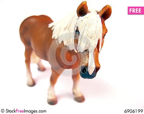 Horse- plastic toy Stock Photo