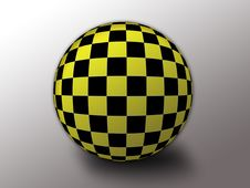 Free Yellow/black Checkered Flag Stock Images - 6900054