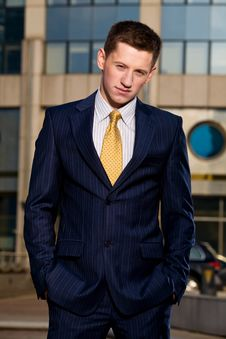 Free Portrait Of Young Businessman Outdoors Stock Image - 6900491