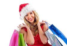 Free Santa Girl Stock Image - 6900521