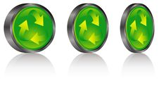 Recycle Buttons Royalty Free Stock Photos