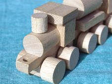 Free Wooden Toy Train Royalty Free Stock Photography - 6901277