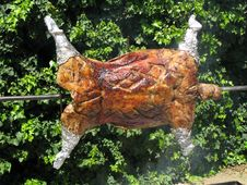 Free Lamb On A Spit Royalty Free Stock Images - 6901329