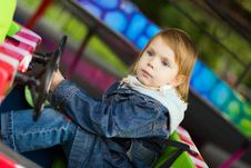 Girl At Park Amusement Stock Photography