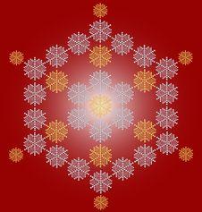 Free Contemporary Snowflake Christmas Card Royalty Free Stock Photos - 6901718