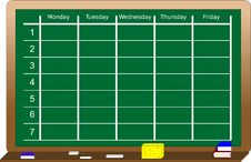 Free Blackboard With Scheduler Stock Photo - 6901740