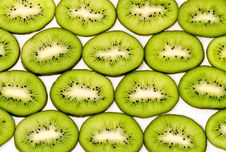 Slices Of Kiwi Fruits I Stock Photography