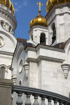The Cathedral Of Christ The Savior In Moscow Royalty Free Stock Photography