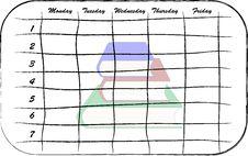 Free School Scheduler Stock Photography - 6901822