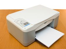 Free Printer Placed On A Wood Table Royalty Free Stock Photo - 6902145