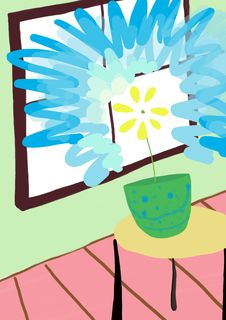 Indoor Flower Stock Photo