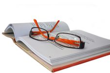 Spectacles On Book Royalty Free Stock Photos
