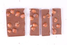 Free Broken Chocolate With Nuts Stock Photography - 6903262