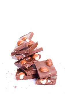 Free Chocolate Tower With Crumb Stock Photos - 6903273