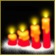 Free Red Christmas Candles Royalty Free Stock Photo - 6903575