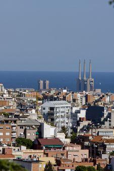 Free Barcelona Panoramic View Royalty Free Stock Photos - 6903618