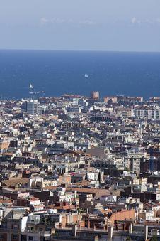 Free Barcelona Panoramic View Royalty Free Stock Photo - 6903665